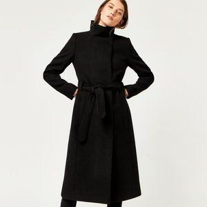 BURBERRY LONDON Funnel Neck Belted Trench Coat